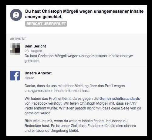 hot sale where can i buy latest discount Die Sperrung von Christoph Mörgelis Facebook Account ist ...